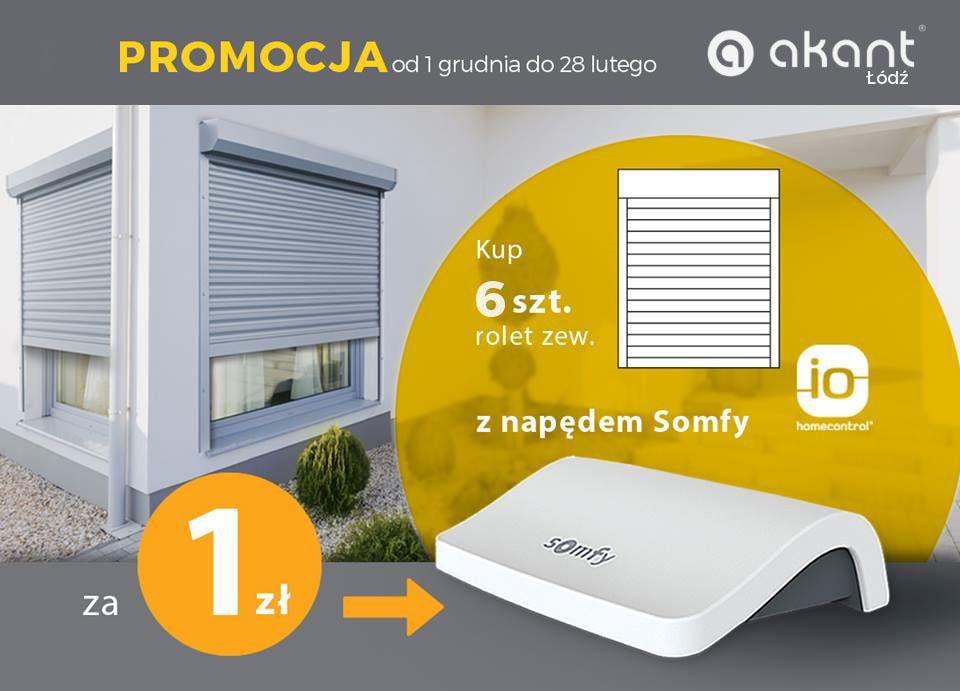 PROMOCJA Akant Łódź – SOMFY CONNEXOON BOX za 1zł