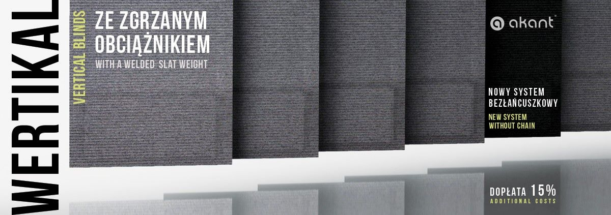 NOWOŚĆ!!! Wertikal w bezłańcuszkowym systemie obciążnika tkaniny już w sprzedaży